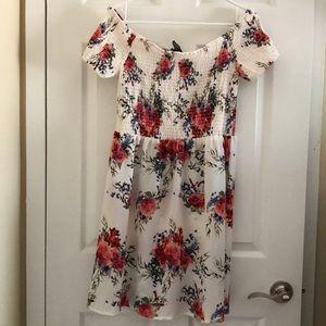 Junior L summer off shoulder floral dress